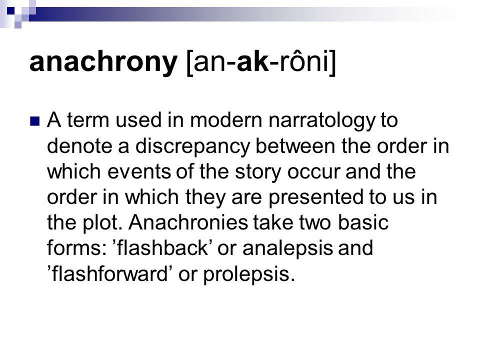 anachrony [an-ak-rôni]